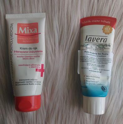Mixa, Krem do rąk Intensywne odżywienie  Lavera pasta do zębów bez fluoru z bio-echinaceą i propolisem