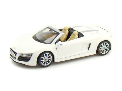 Maisto Special Edition - Audi R8 Spyder Model Car 1:24 - White (31204)  Manufacturer: Maisto Enarxis Code: 018126 #toys #Maisto #miniature #cars #Audi #Spyder