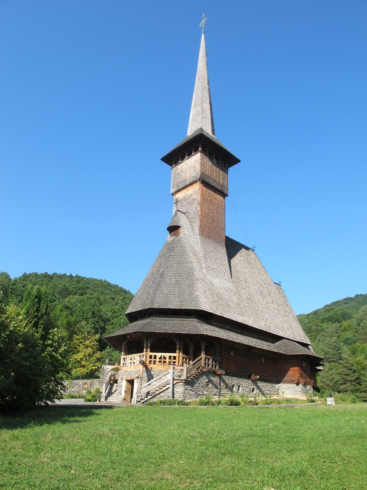 ROMANIA. Barsana/Maramures.  Barsana Monastery, an UNESCO World Heritage site, home of Europe's tallest wooden structure.  #monogramsvacation