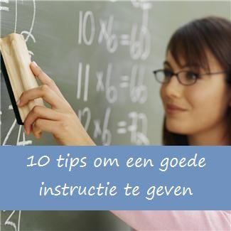 Goede instructie geven