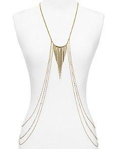 """ABS by Allen Schwartz Multi-Row Body Chain Necklace, 26"""""""
