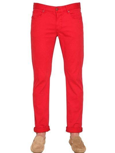 Armani Jeans 18cm Stretch Cotton Twill Jeans on shopstyle.com