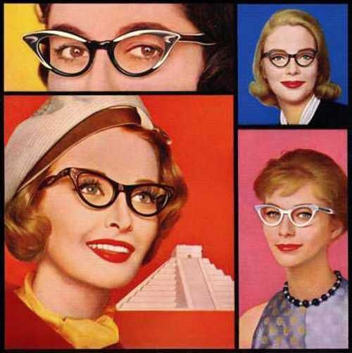 How to look glamorous in glasses… American Optical advertisement, 1959;: Catey, 1950S, Cat Eyes, American Optical, 1950 S, Fashion Ads, Eyeglasses, Cat Eye Glasses, Retro Vintage