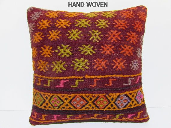 20x20 kilim pillow 20x20 large couch pillow by DECOLICKILIMPILLOWS