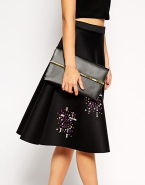 Enlarge ASOS Leather Slim Envelope Clutch Bag