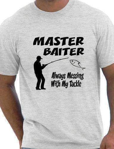 Fishing T-Shirt Master Baiter Funny Mens