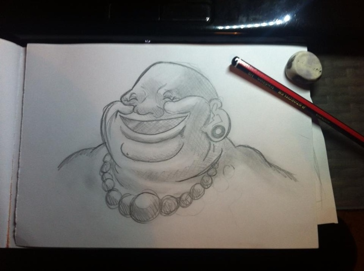 laughing buddha drawing - photo #9