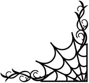 View Design: spider web flourish
