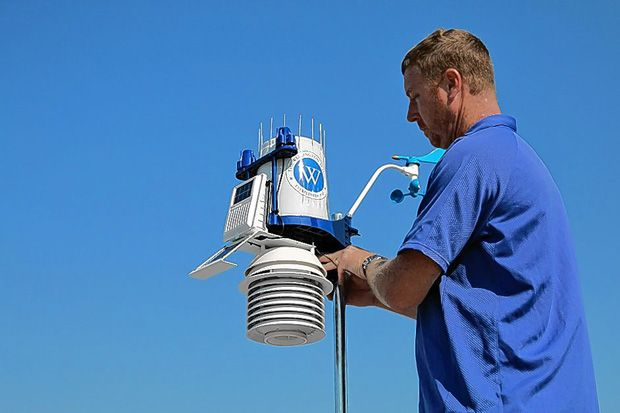 Central Ohio residents looking for real-time weather conditions can get texts with daily updates or have easy access to weather forecasts through WeatherSTEM -- a device installed on the roof of the Wellington School this past summer.