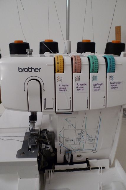 serge tutorial for brother serger
