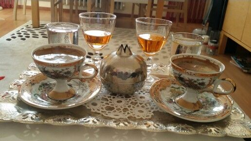 Turkish coffee, Turkish delight and mandarin liqueur by Orman Perisi