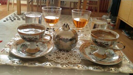 Turkish coffee, Turkish delight and mandarin liqueur by Orman Perisi