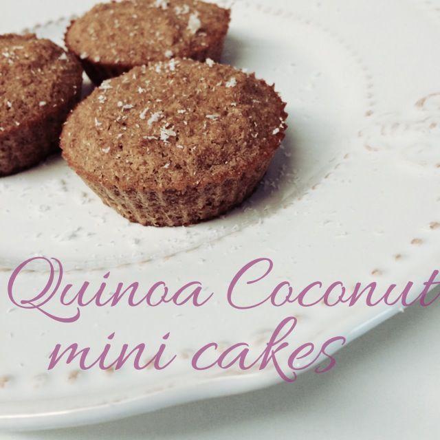 Mini Bolo de Côco e Quinoa | Cozinho, logo Existo