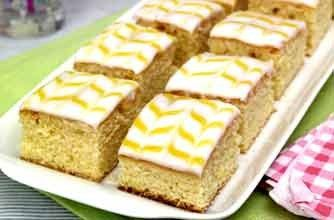 Woman's Weekly lemon curd cubes - 40 easy tray bake recipes