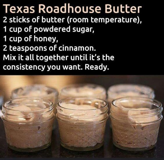 Texas roadhouse butter - Butter, Sugar, Honey, and Cinnamon. #recipe