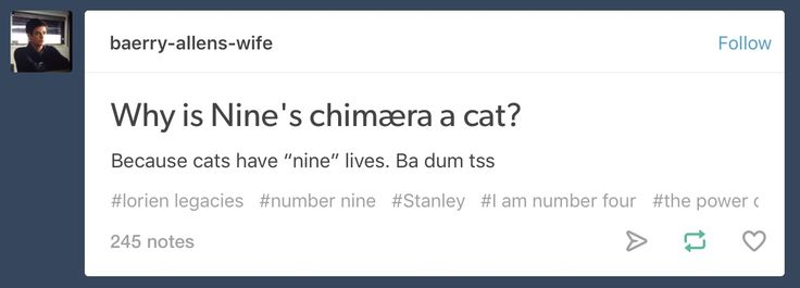 Lorien Legacies: Why Nine's Chinæra is a cat