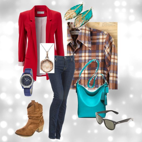 """""""Today's outfit: red blazer outfit"""" by jbackes on Polyvore"""