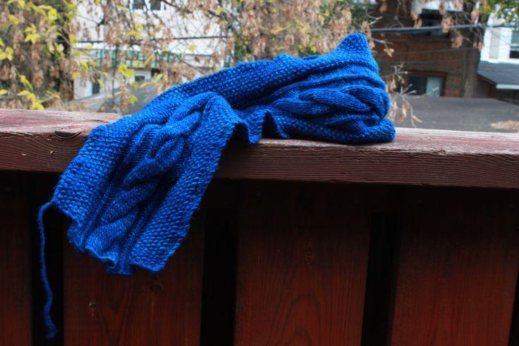 Clara scarf, superwash merino