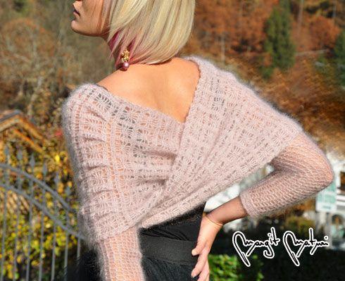 SCIALLOVER ROSE CLOUDE - Rowan yarn Kid silk haze