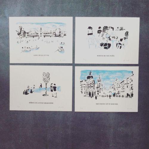 mariaboavida:  Ola Madrid /  / hello Madrid @wearekamikaze @ninja_ocre #Serigrafia #carapauamarelo #screenprint #antonioboavida