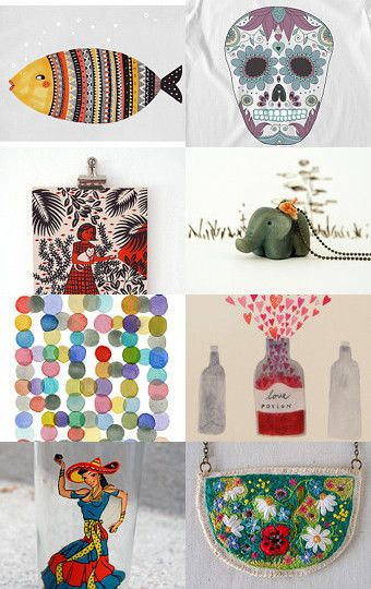 Monday's holiday treasures by Jenny Mendes on Etsy--Pinned with TreasuryPin.com