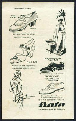 Indonesian Old Commercials: DJANGAN LOEPA SPATOE BATA, Bermatjem Model Boeat Roepa2 Kaperloean (Bata Shoes)