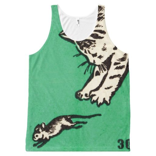 """If you play with cats, expect to be scratched"" All-Over print tank top - $35.90 Made by Jakprints / Design: Fluxionist"