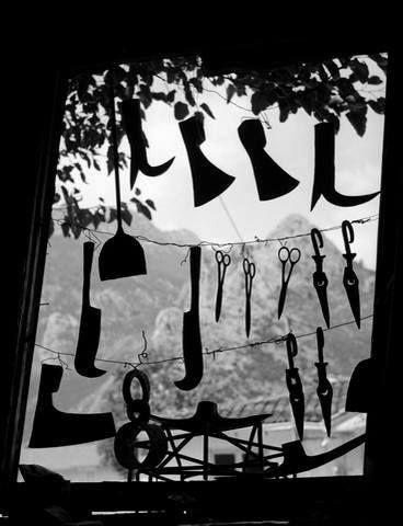 Τρίκαλα,1958. Βιτρίνα σιδερά. Φωτογράφος: Τάκης Τλούπας.