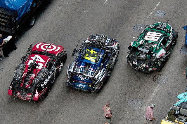 Nascar autos Wreckers Transformers 3