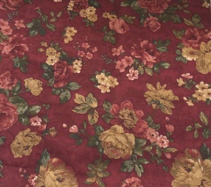 vtg SPRINGS Cottage Chic Floral King Pillow Shams/2 USA #Springs #Cottage