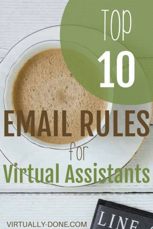 email rules, virtual assistant, email best practices, VA, email etiquette, communication skills