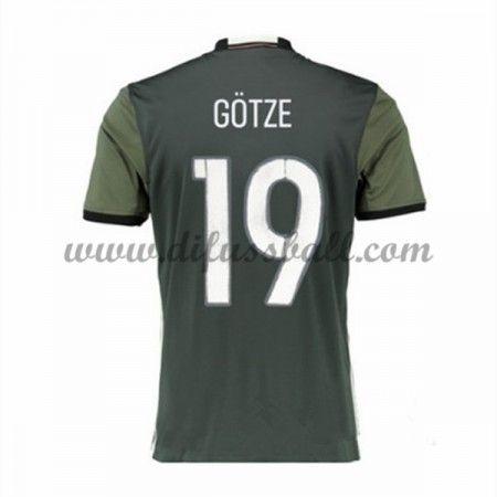 Nationaltrikot Deutschland 2016 GOTZE 19 Kurzarm Auswärts Fußballtrikots