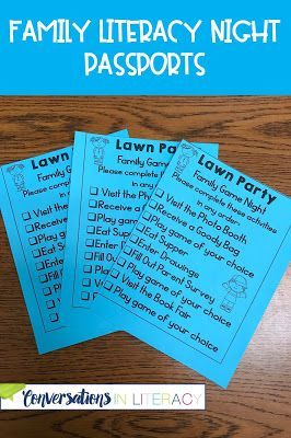 Family Literacy Night Activities It's A Lawn Party! Activities and Ideas for a successful Family Literacy Night!  Passport to all the activities.
