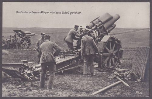 Image result for German 21cm  Morser 16 heavy howitzer