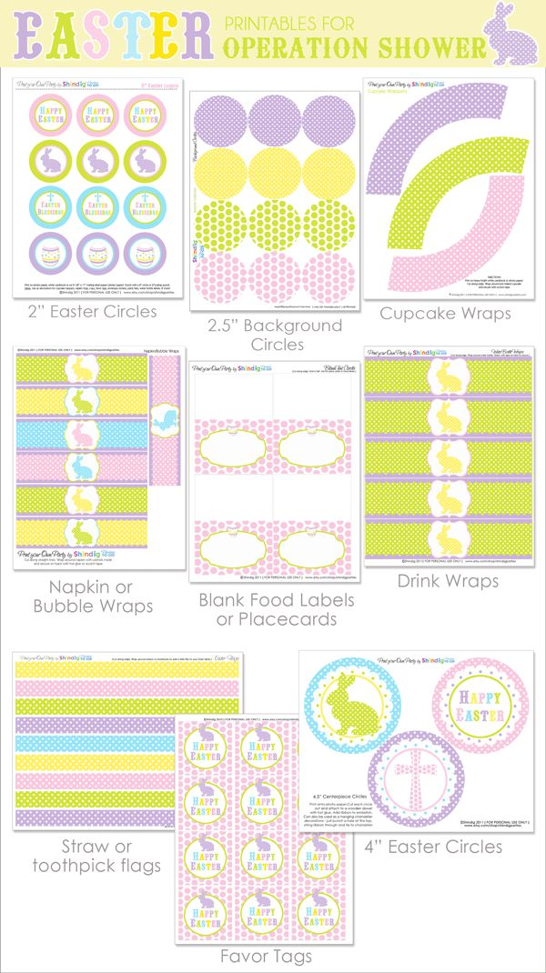 {FREE} Printables for Operation Shower for Easter