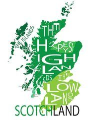 Typographic Map of the Scotch Regions
