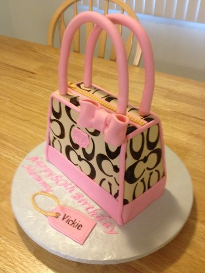 A Coach Purse Cake that I made recently :)