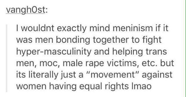 Seriously. We could use some help on the male side of feminism too, here.