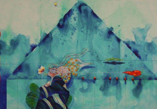Ardy Strüwer - Litografi - MONSUN BLUE PYRAMID Beställ här! Klicka på bilden.