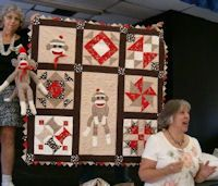 Sock Monkey and Sock Monkey Baby quilt: I have made over 25 Sock Monkeys over the years for the family children and had one myself as a little girl. Now my niece is expecting the first of