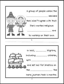 """FREE LANGUAGE ARTS LESSON - """"First Thanksgiving Printable Mini Book"""" - Go to The Best of Teacher Entrepreneurs for this and hundreds of free lessons. Kindergarten - 2nd Grade #FreeLesson  #LanguageArts  #Thanksgiving  http://www.thebestofteacherentrepreneurs.net/2015/10/free-language-arts-lesson-first.html"""