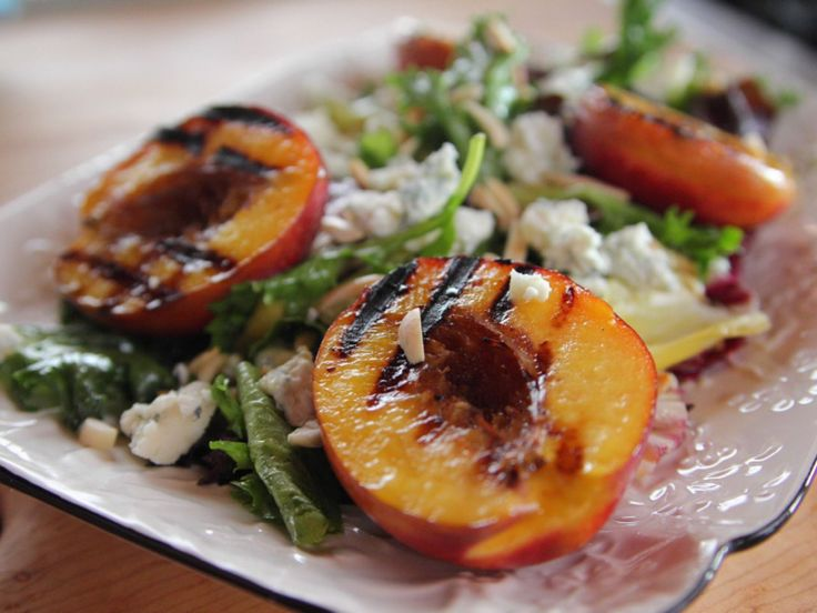 Grilled Nectarine Salad : While grilled nectarines and peaches are a go-to summer dessert, Ree dresses up grilled nectarines with savory ingredients like a mustard vinaigrette and blue cheese to create a seasonal salad.