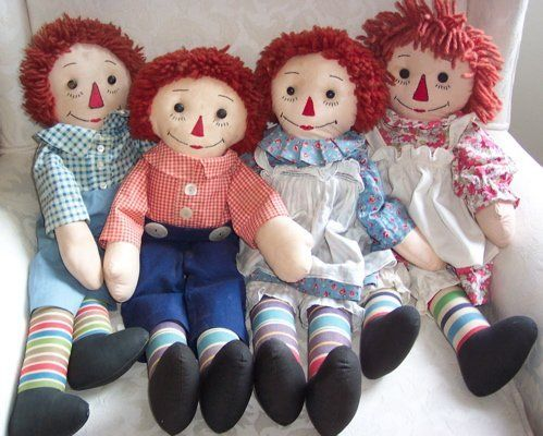 The 368 best Raggedy Ann and Andy images on Pinterest | Fabric dolls ...