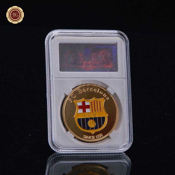 Wr Metal Collectible Number 10 Lionel Messi / Barcelona Gold Plated Coin Argentina Soccer Souvenir Art Crafts Fans Favor