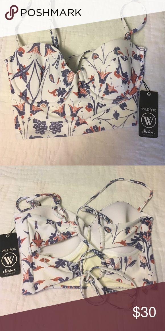 Wildfox swimsuit top Wildfox swimsuit top with lace back. NWT! Wildfox Swim