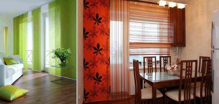 Японские шторы: фото своими руками, панели и карнизы, стильная кухня, шторы на балкон, как сшить, фурнитура, видео