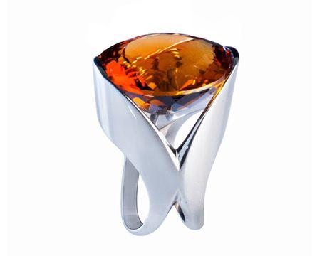 Anillo elaborado en Citrino y Oro Blanco #jewellery #ring #gold #whitegold #luxury #citrine