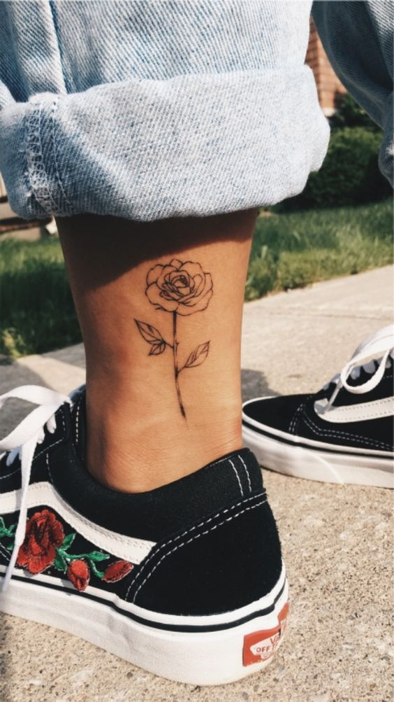 An ankle tattoo for girls
