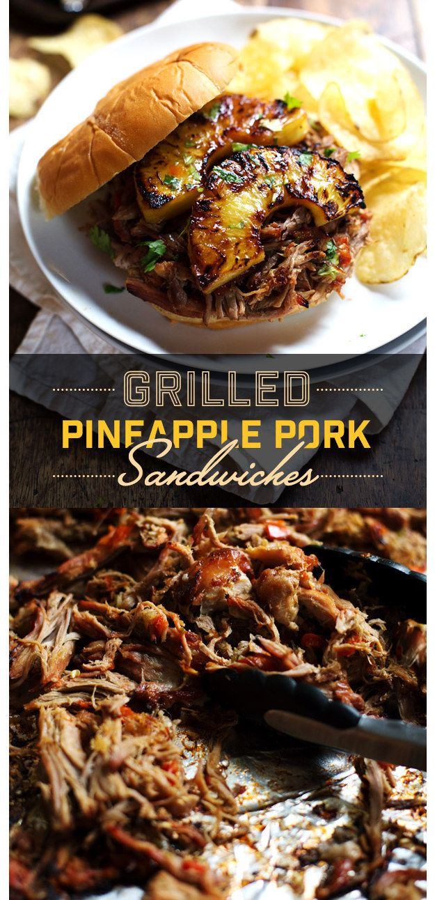 Grilled Pineapple Pork Sandwiches