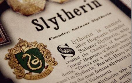 grafika harry potter, slytherin, and book